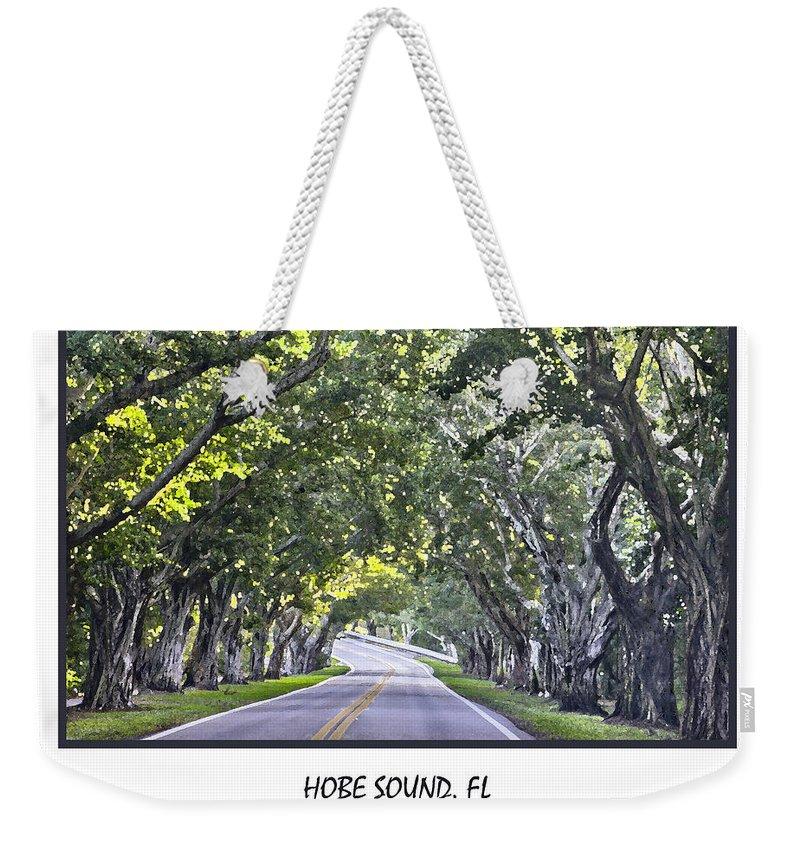 Banyan Weekender Tote Bag featuring the photograph Hobe Sound Fl-bridge Street Banyans by Betty Denise