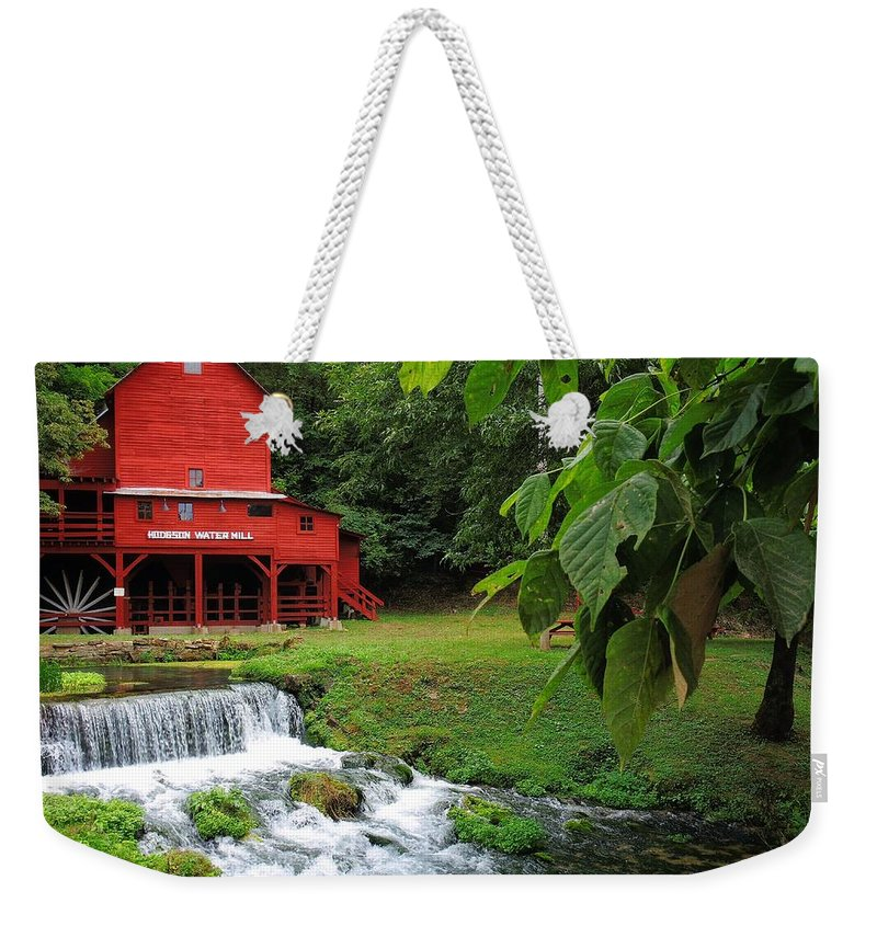Hodgson Water Mill Weekender Tote Bag featuring the photograph Hodgson Water Mill by Skip Hunt