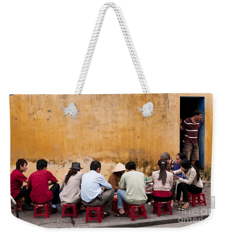 Vietnam Weekender Tote Bag featuring the photograph Hoi An Noodle Stall 05 by Rick Piper Photography