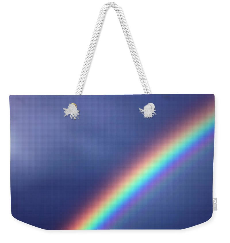Rainbow Weekender Tote Bag featuring the photograph Hold On For Hope by Amanda Barcon