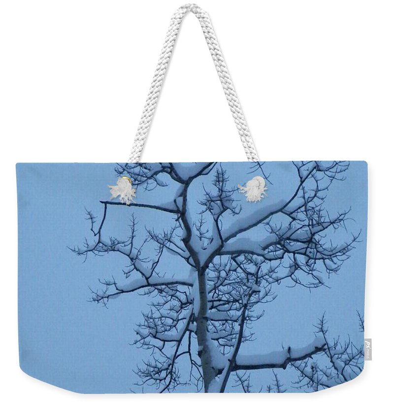 Aspen Weekender Tote Bag featuring the photograph Holding by Brian Boyle