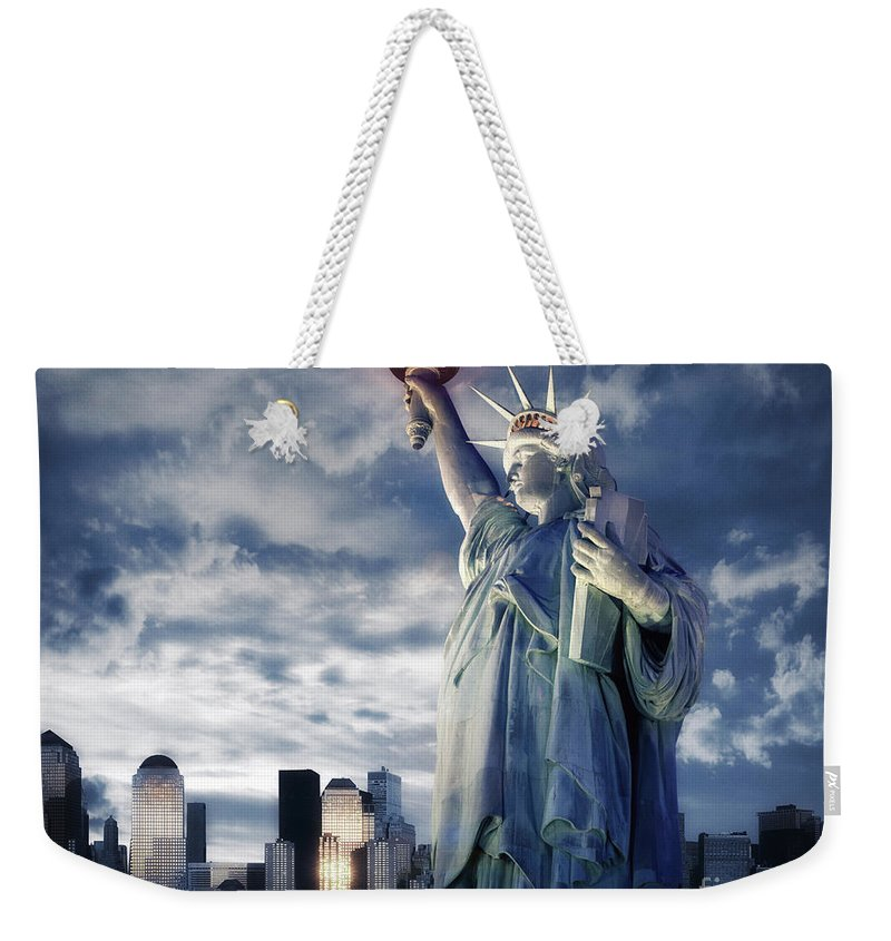 Usa Weekender Tote Bag featuring the photograph Holding Your Torch by Edmund Nagele