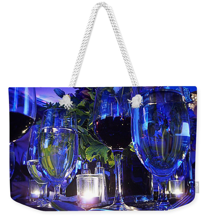 Blue Weekender Tote Bag featuring the photograph Holiday Blues by Xueling Zou