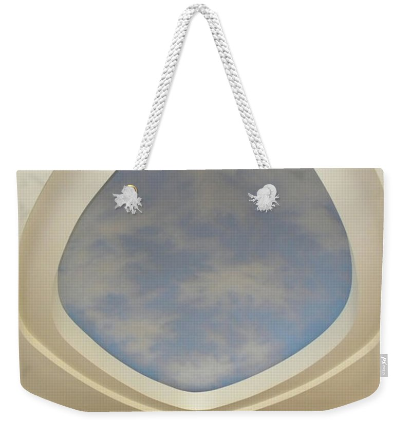 Murals Weekender Tote Bag featuring the painting Holiday Inn Express Ceiling Dome Mural by Frank Wilson