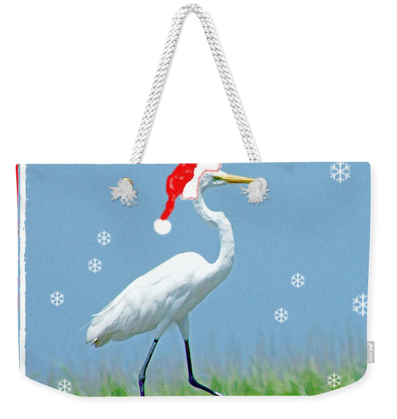 Egret Weekender Tote Bag featuring the digital art Holiday March by Lizi Beard-Ward
