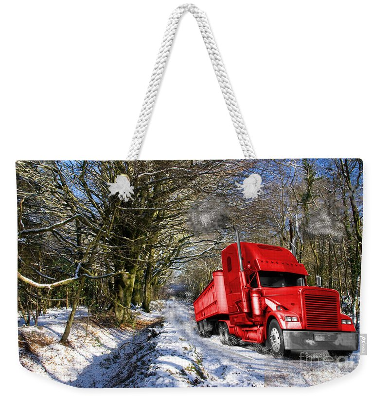 Lorry Weekender Tote Bag featuring the photograph Holidays Are Coming by Rob Hawkins