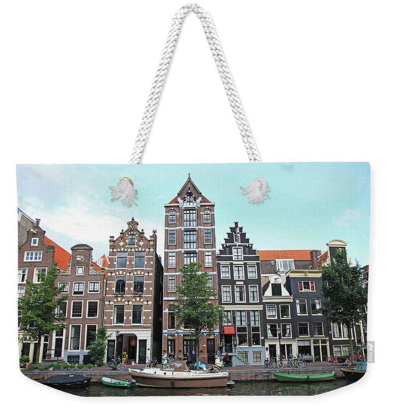 Netherlands Weekender Tote Bag featuring the photograph Holland, Amsterdam by Hiroshi Higuchi