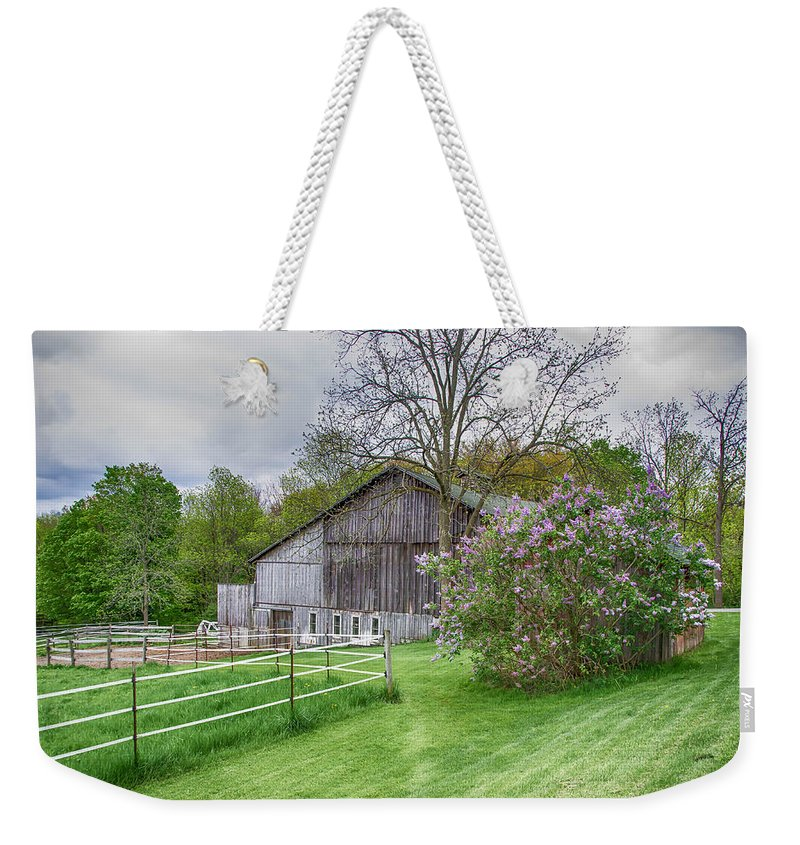 Barn Weekender Tote Bag featuring the photograph Holland Barn by Guy Whiteley