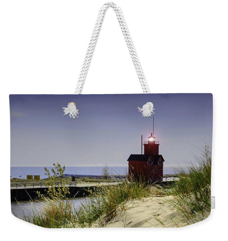 Usa Weekender Tote Bag featuring the photograph Holland Harbor Light by LeeAnn McLaneGoetz McLaneGoetzStudioLLCcom
