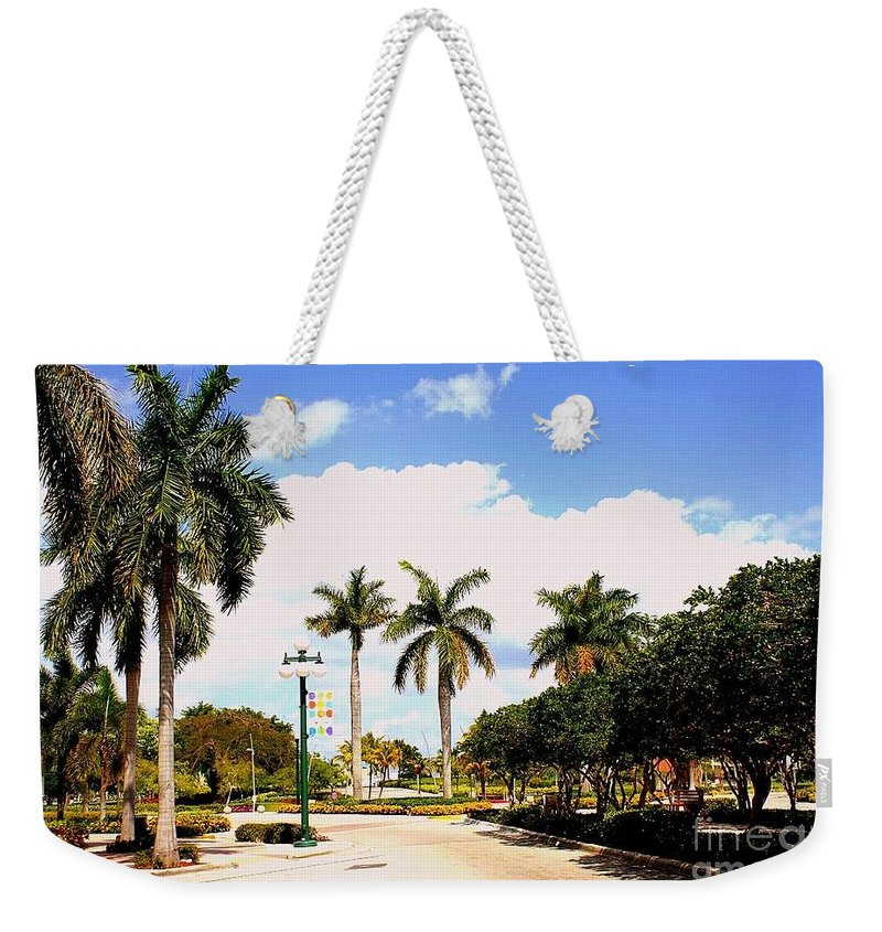 Hollywood Florida - Florida - Landsapes - Palm Trees - Nature Weekender Tote Bag featuring the photograph Hollywood Florida by Dora Sofia Caputo Photographic Design and Fine Art
