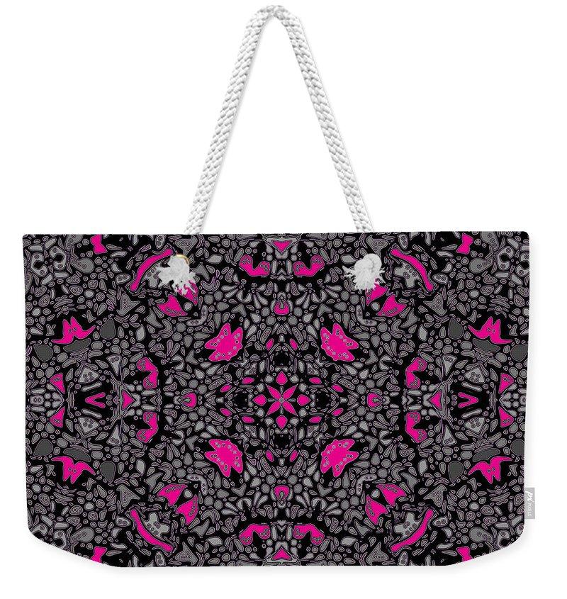 Kaleidoscope Weekender Tote Bag featuring the digital art Hollywood Hills by Joy McKenzie