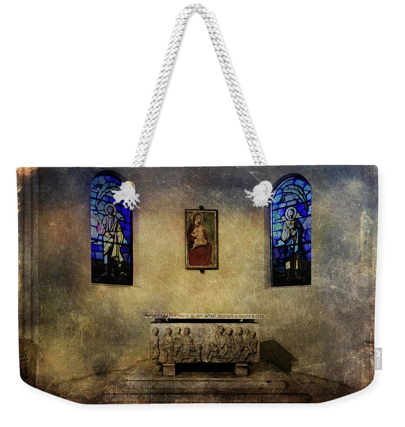 Architecture Weekender Tote Bag featuring the photograph Holy Grunge by Roberto Pagani