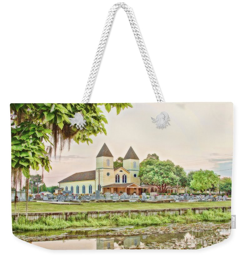 Church Weekender Tote Bag featuring the photograph Holy Rosary Church by Scott Pellegrin
