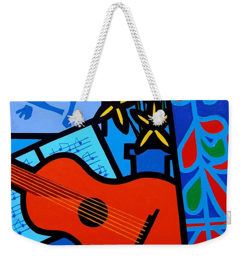 Matisse Weekender Tote Bag featuring the painting Homage To Matisse I by John Nolan