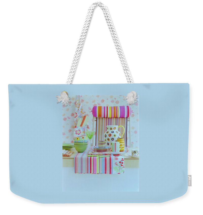 Kitchen Weekender Tote Bag featuring the photograph Home Accessories by Romulo Yanes