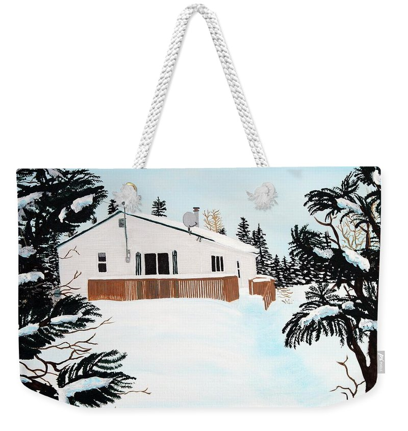 Home Weekender Tote Bag featuring the painting Home Away From Home by Barbara Griffin