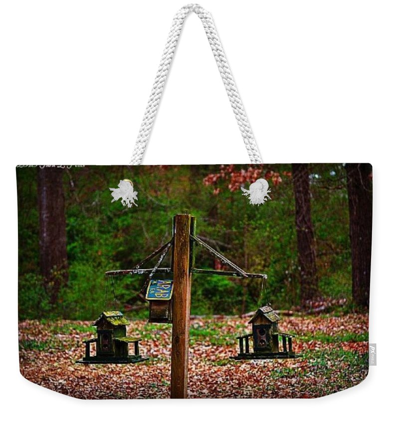 Birdhouse Weekender Tote Bag featuring the photograph Home Away From Home by Tara Potts