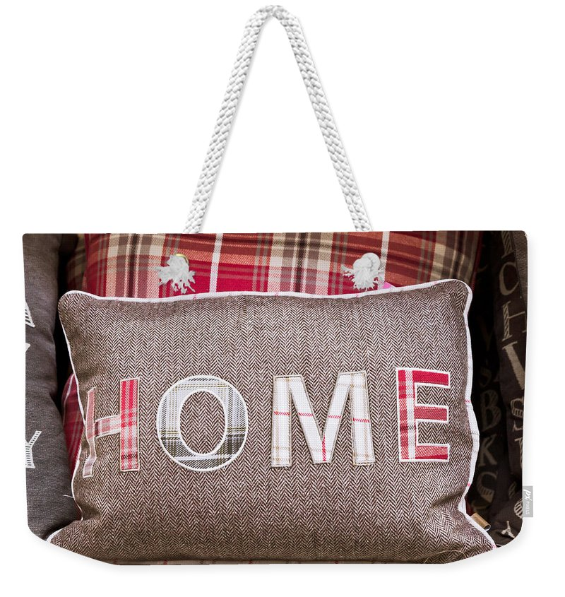 Chic Weekender Tote Bag featuring the photograph Home Cushion by Tom Gowanlock