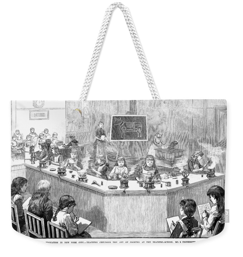 1886 Weekender Tote Bag featuring the photograph Home Economics Class, 1886 by Granger