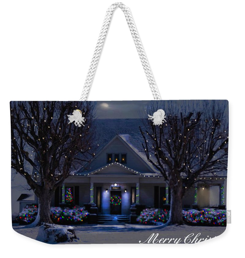 Home Weekender Tote Bag featuring the photograph Home For Christmas by Bonnie Willis