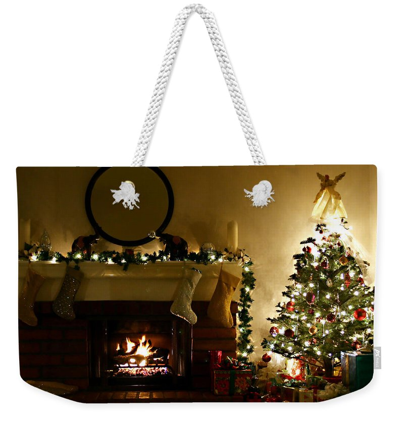 Home For The Holidays Weekender Tote Bag featuring the photograph Home For The Holidays by Ellen Henneke