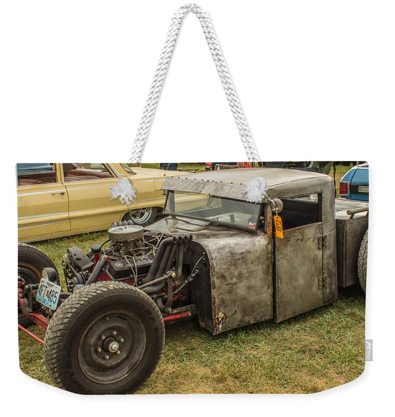 Hot Rod Weekender Tote Bag featuring the photograph Home Made Muscle by Ken Kobe