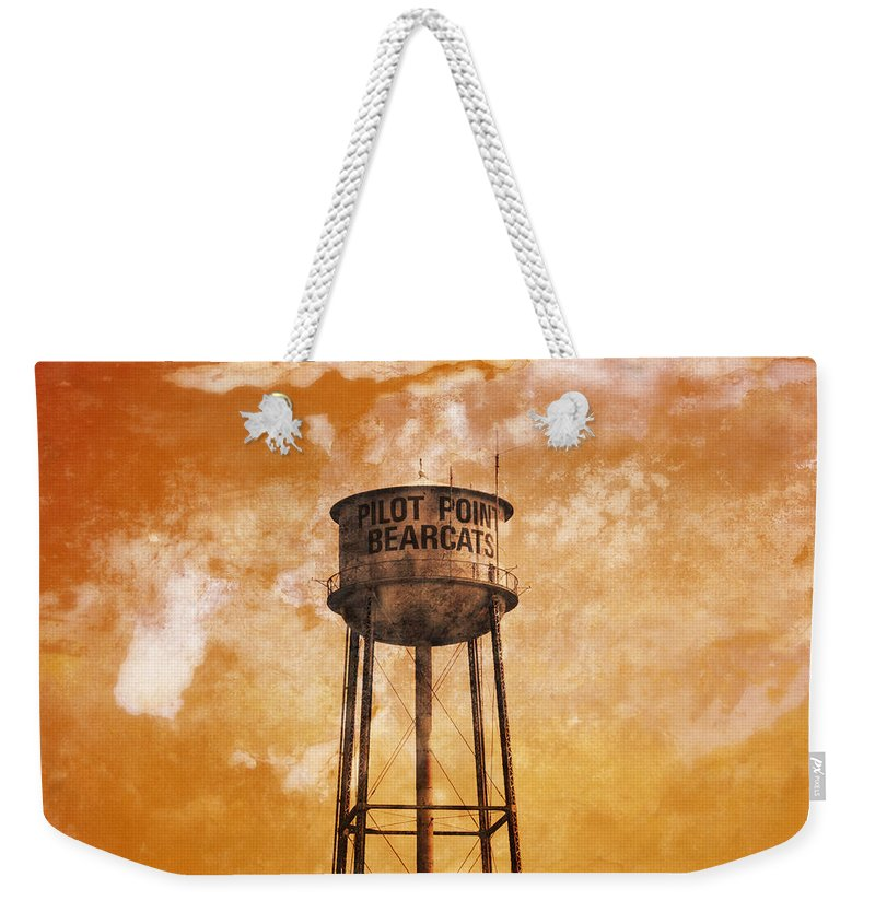 Home Weekender Tote Bag featuring the photograph Home Of The Pilot Point Bearcats by Douglas Barnard