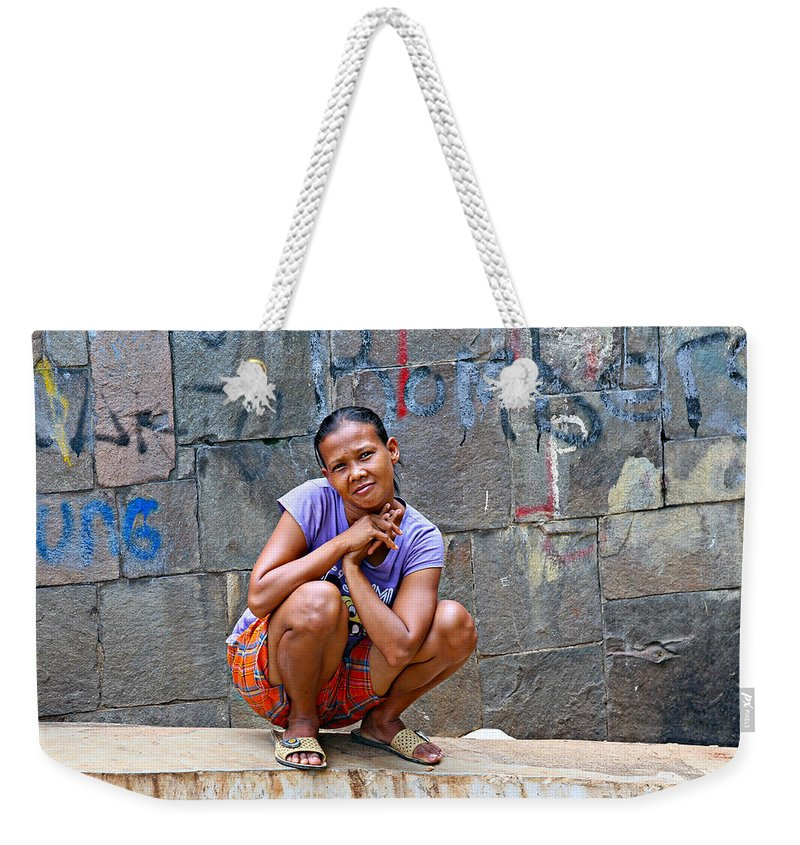 Jakarta Weekender Tote Bag featuring the photograph Homeless In Indonesia by Paul Fell