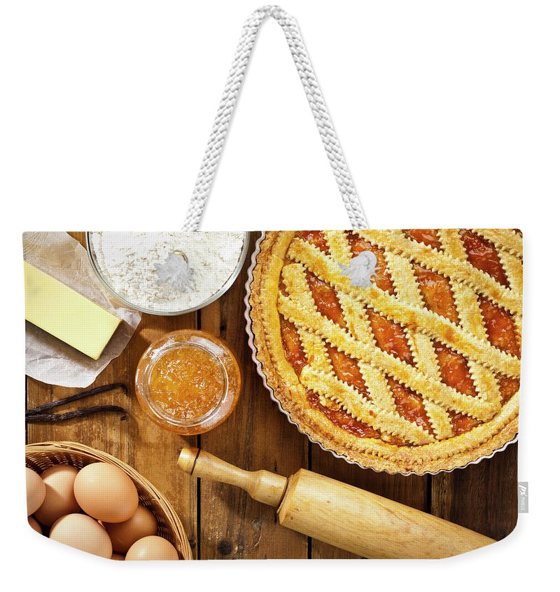 Breakfast Weekender Tote Bag featuring the photograph Homemade Italian Crostata With by Fcafotodigital