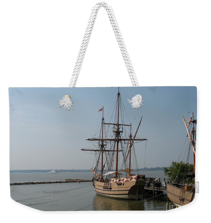 Homesteaders Weekender Tote Bag featuring the photograph Homesteaders Sailing Ships by Christiane Schulze Art And Photography