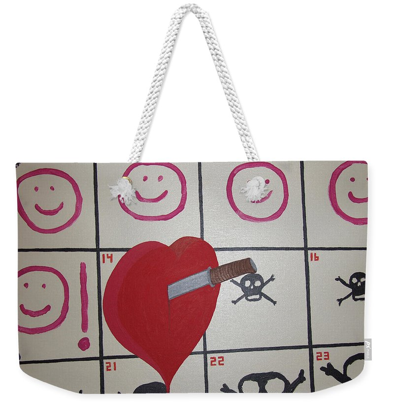 Edgy Weekender Tote Bag featuring the painting Honeymoons Over by Dean Stephens