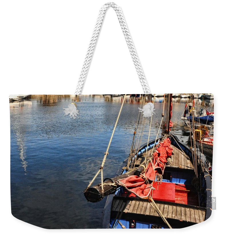 Honfleur Weekender Tote Bag featuring the photograph Honfleur Harbor by Dave Mills