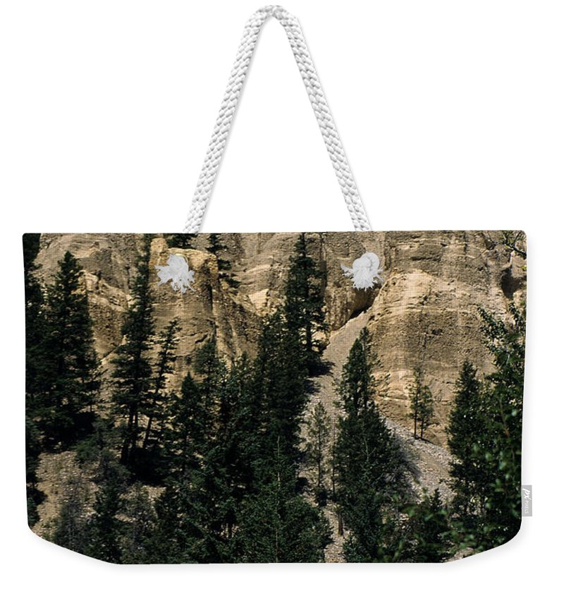 British Columbia Weekender Tote Bag featuring the photograph Hoodoo's by Sharon Elliott