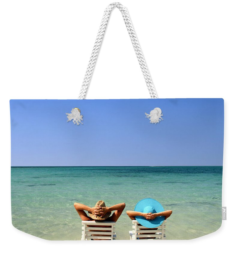Young Weekender Tote Bag featuring the photograph Horizon Blues by Edmund Nagele