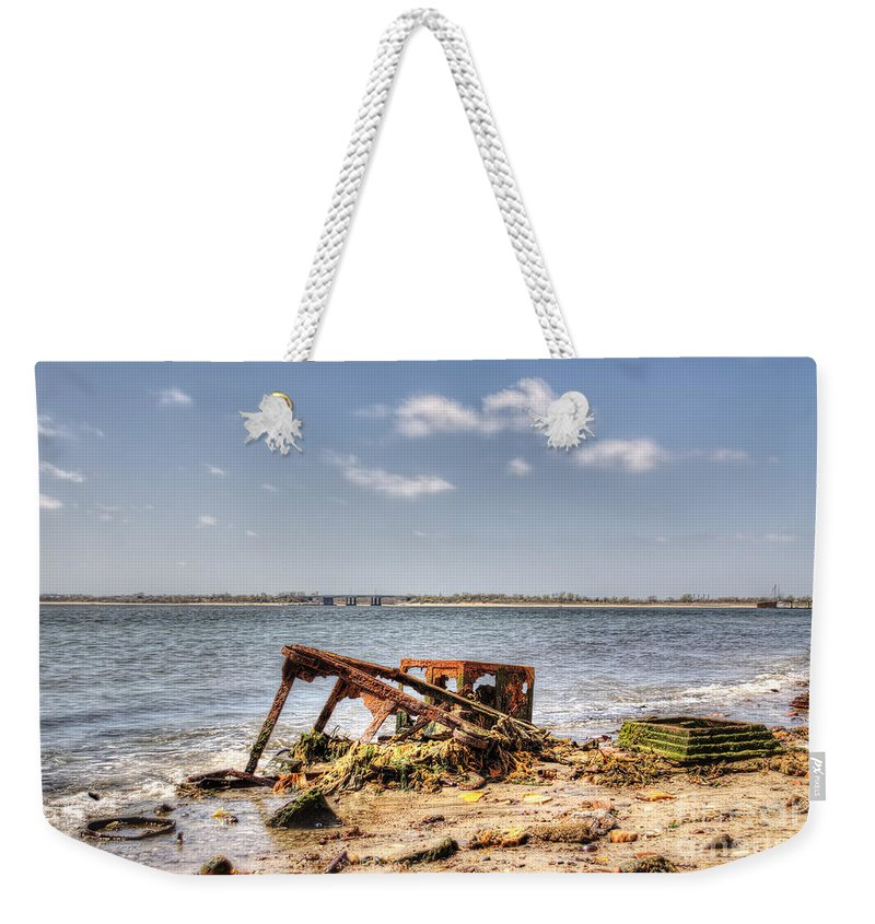 Washed Ashore Weekender Tote Bag featuring the photograph Horizon by Rick Kuperberg Sr