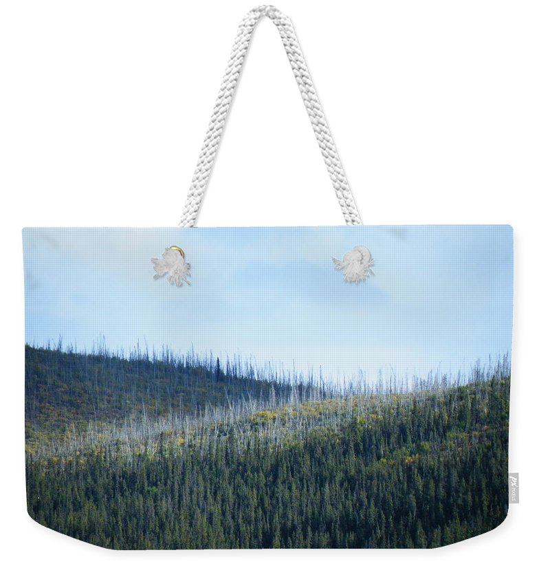 Skyline Weekender Tote Bag featuring the photograph Horizontal Renewal by Brian Boyle