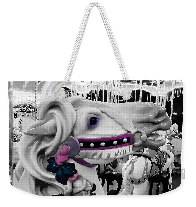 Horse Weekender Tote Bag featuring the photograph Horse Of A Different Color by Greg Fortier