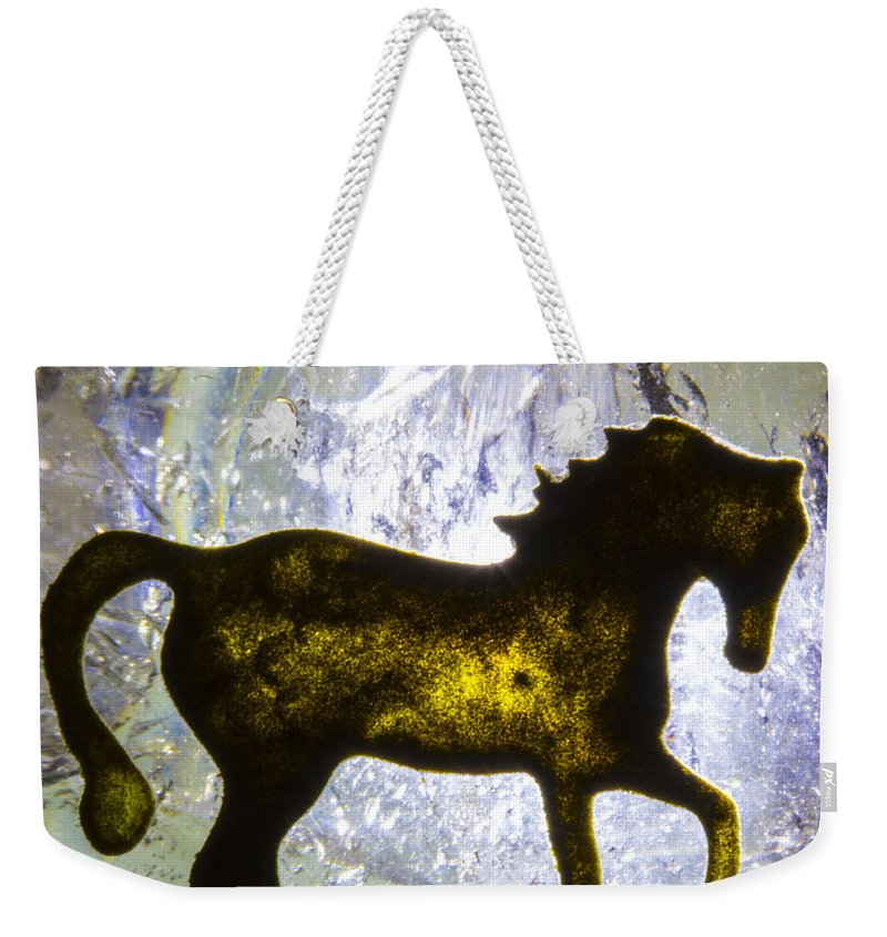 Horse Weekender Tote Bag featuring the photograph Horse On A Quartz Crystal by Robert Storost
