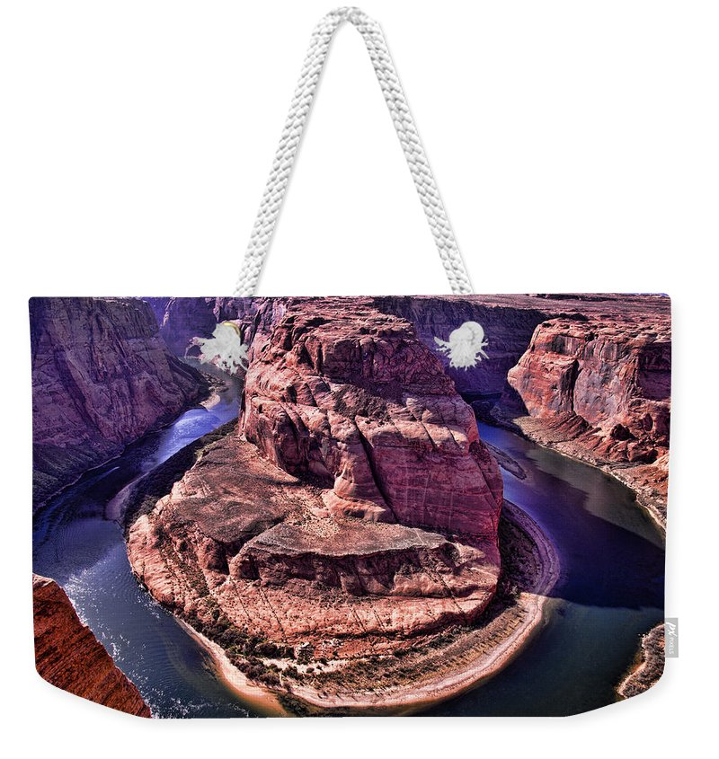 Horseshoe Bend Weekender Tote Bag featuring the photograph Horsehoe Bend On The Colorado River by Jon Berghoff