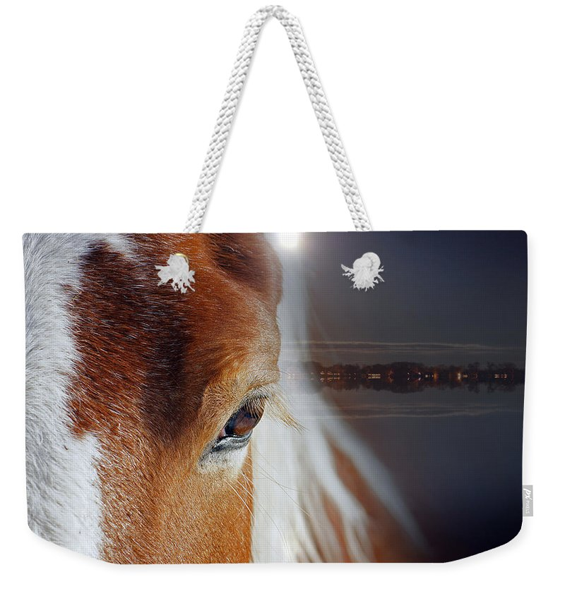 Horse Weekender Tote Bag featuring the photograph Horses by Mark Ashkenazi