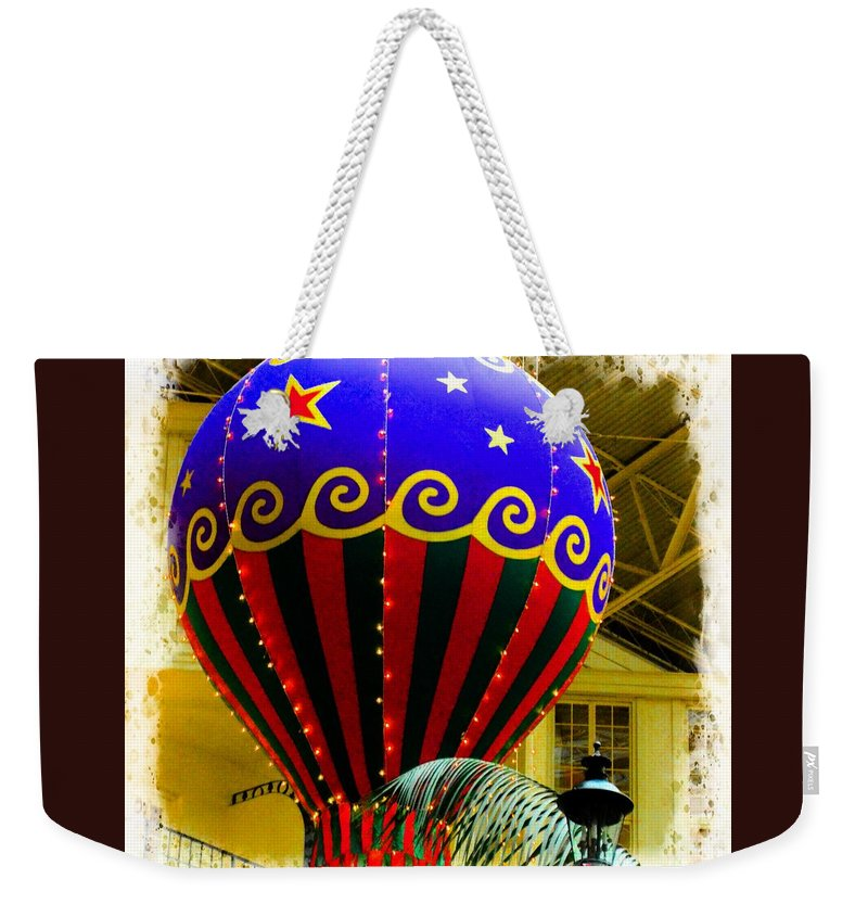 Hot Weekender Tote Bag featuring the photograph Hot Air Balloon by Kathleen Struckle