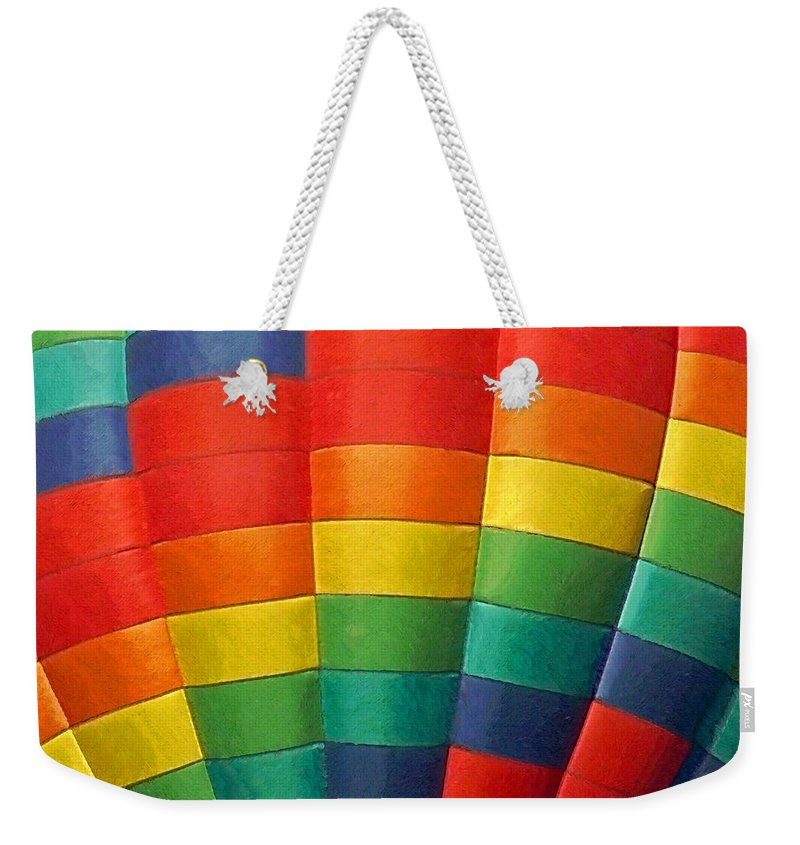 Balloons Weekender Tote Bag featuring the photograph Hot Air Balloon Painterly by Ernie Echols