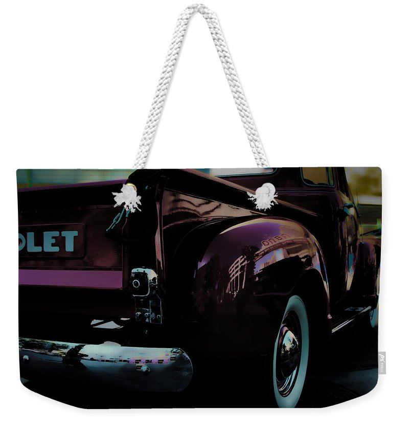 American Classic Cars Weekender Tote Bag featuring the photograph Hot August Nights by Digital Kulprits