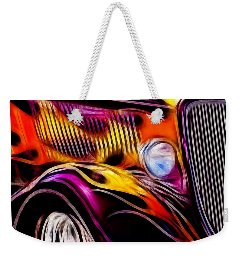 Hot Ford 1 Weekender Tote Bag featuring the photograph Hot Ford 1 by Wes and Dotty Weber