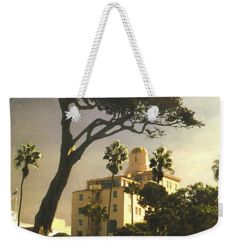 Landscape Weekender Tote Bag featuring the photograph Hotel California- La Jolla by Steve Karol