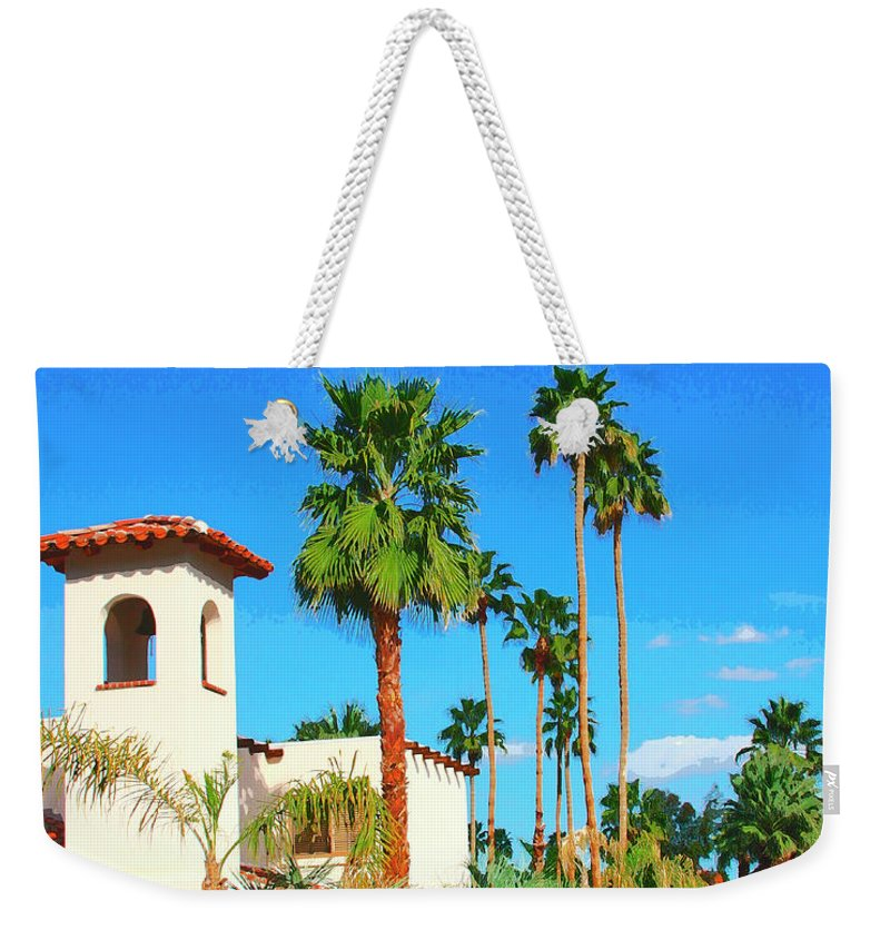Hotel California Weekender Tote Bag featuring the photograph Hotel California Palm Springs by William Dey