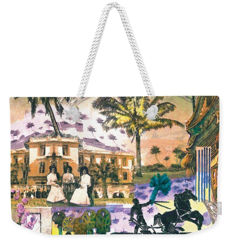 Desert Weekender Tote Bag featuring the digital art Hotel California by Valerie Meotti
