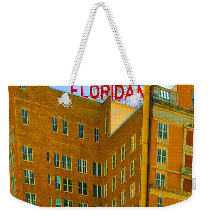 Hotel Weekender Tote Bag featuring the photograph Hotel Floridan by Jost Houk