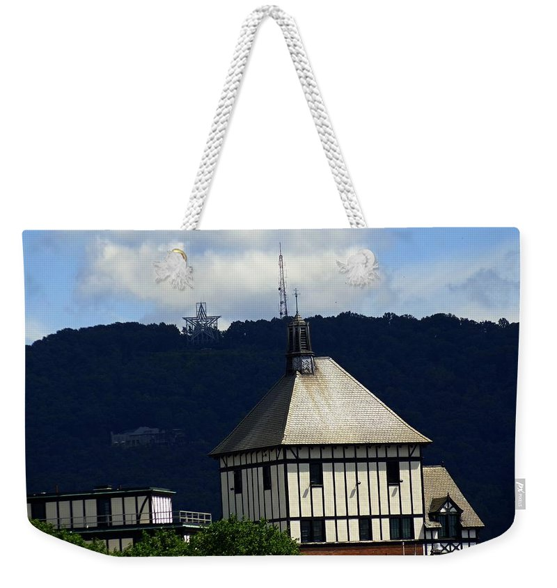 City Weekender Tote Bag featuring the photograph Hotel Roanoke And Star by Jannice Walker