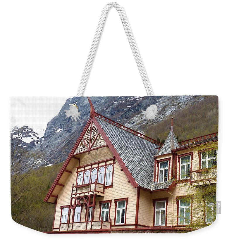 Weekender Tote Bag featuring the photograph Hotel Union Oye by Katerina Naumenko